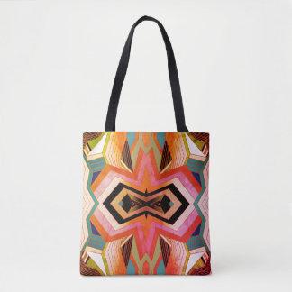 Colorful Vintage Geometric Vibes Tote Bag