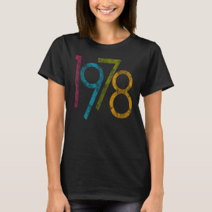 Colorful Vintage Graphic 1978 40th Birthday T Shirt