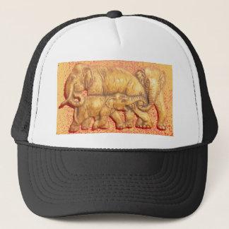 Colorful Vintage Hakuna Matat Elephant Family Gift Trucker Hat