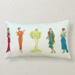 "Colorful Vintage Hollywood Fashion Models Lumbar Pillow<br><div class=""desc"">We love our new pattern featuring a colorful rainbow of vintage couture gowns from the golden age of Hollywood elegance.</div>"