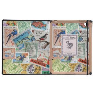 Colorful Vintage Island Stamps DoDo iPad Case