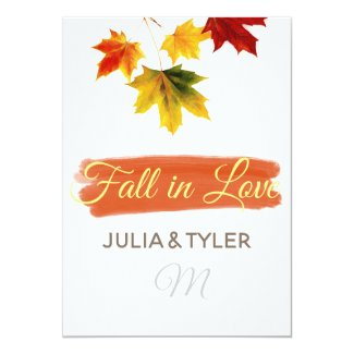 Colorful vintage maple leaves for weddings invitation