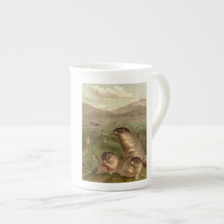 Colorful vintage marmot illustration mug