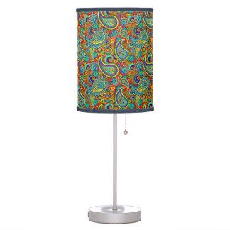 Colorful Vintage Orante Paisley Table Lamp