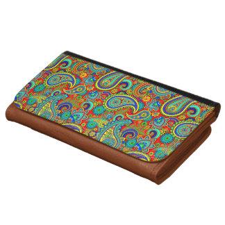 Colorful Vintage Orante Paisley Wallet