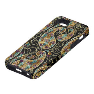 Colorful Vintage Ornate Paisley Design iPhone 5 Case