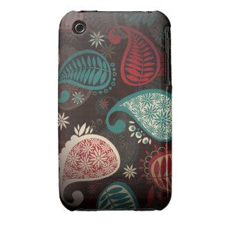 Colorful Vintage Paisley iPhone 3 Case-Mate Cases