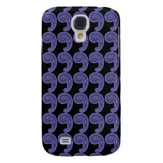 Colorful Vintage Paisley Lavender Violet Purple Samsung Galaxy S4 Case