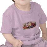 Colorful Vintage Pansies Floral Infant T-Shirt