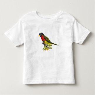 Colorful vintage parrot illustration toddler shirt
