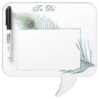 Colorful Vintage Peacock Feather Dry-Erase Board