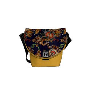 Colorful Vintage Retro Paisley Messenger Bag