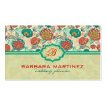 Colorful Vintage Roses Hand-Drawn Style Double-Sided Standard Business Cards (Pack Of 100)