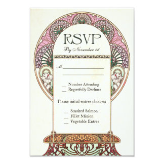 Colorful Vintage RSVP Wedding Cards I