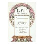 """Colorful Vintage RSVP Wedding Cards I 3.5"""" X 5"""" Invitation Card"""
