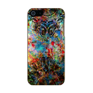 Colorful Vintage Rustic Floral Collage Metallic Phone Case For iPhone SE/5/5s