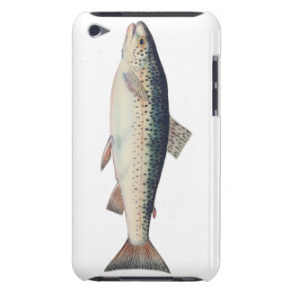 Colorful vintage salmon illustration iPod touch cover