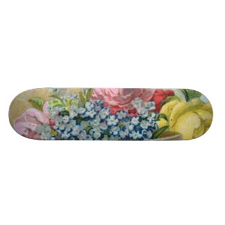 Colorful Vintage Sissy Girl Girly Skateboard