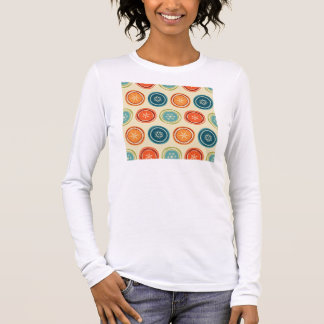 Colorful Vintage snowflakes Long Sleeve T-Shirt