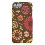 Colorful vintage sunflowers barely there iPhone 6 case