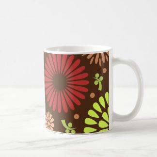 Colorful vintage sunflowers classic white coffee mug