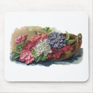 Colorful Vintage Verbenas Mousepad