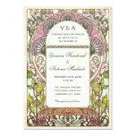 "Colorful Vintage Wedding Invitations Art Nouveau 5"" X 7"" Invitation Card"