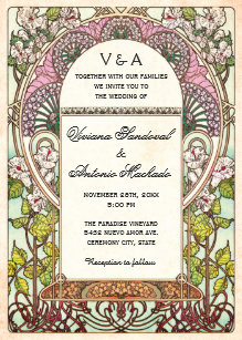 colorful wedding invitations zazzle