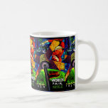 COLORFUL VINTAGE WORLDS FAIR POSTER COFFEE MUG
