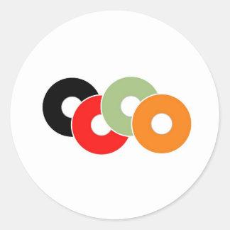 Colorful vinyl classic round sticker