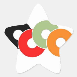 Colorful vinyl star sticker