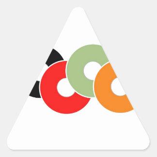 Colorful vinyl triangle sticker