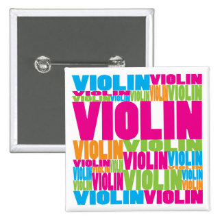 Colorful Violin Button