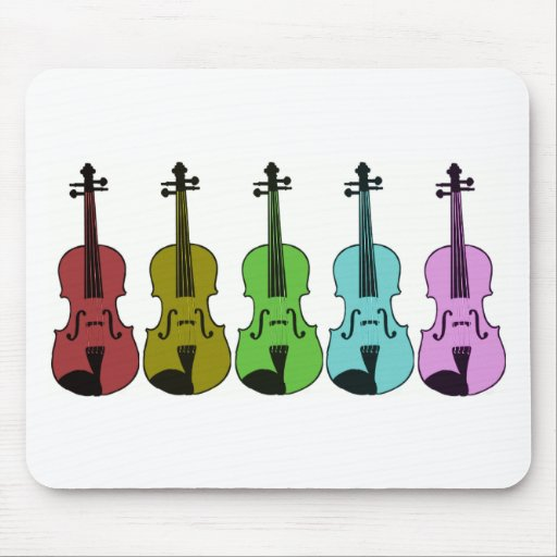 Colorful Violin Mouse Pad