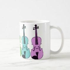 Colorful Violin Mugs