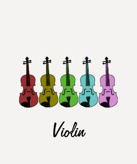 Colorful Violin Shirts