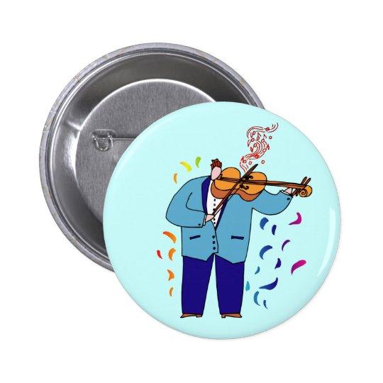 Colorful Violinist Button