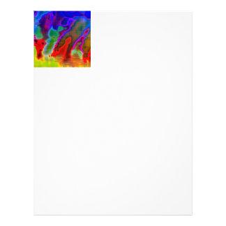 colorful vision letterhead template