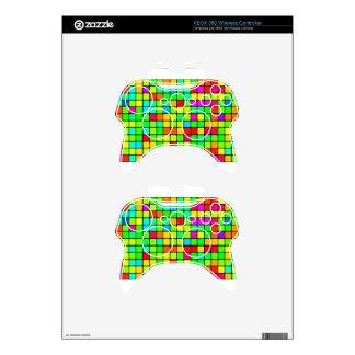 Colorful Vivid Design Retro Squares Xbox 360 Controller Skin
