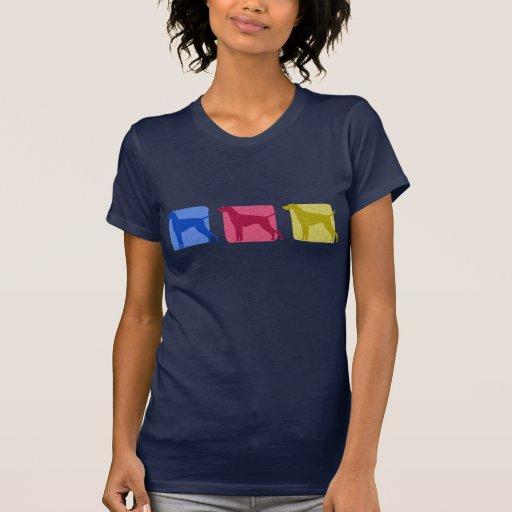 Colorful Vizsla Silhouettes T-shirt