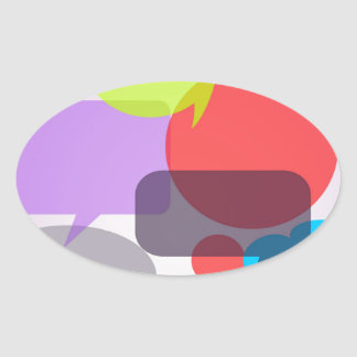 COLORFUL VOICE BUBBLES 1031 OVERLAPPING ASSORTMENT OVAL STICKER