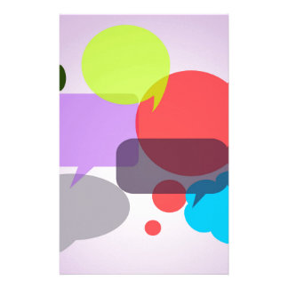 COLORFUL VOICE BUBBLES 1031 OVERLAPPING ASSORTMENT STATIONERY DESIGN