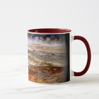COLORFUL VOLCANIC DEPOSITS IN YELLOWSTONE MUG