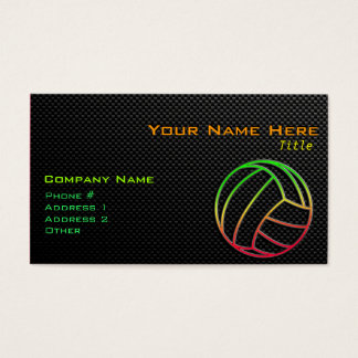 Colorful Volleyball Business Card