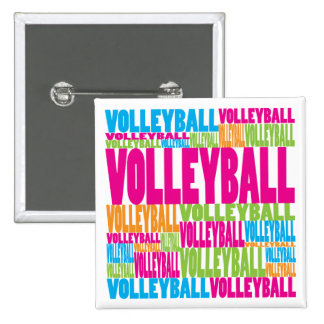 Colorful Volleyball Buttons