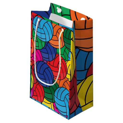 Colorful Volleyball Collage Small Gift Bag