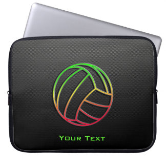 Colorful Volleyball Laptop Computer Sleeves