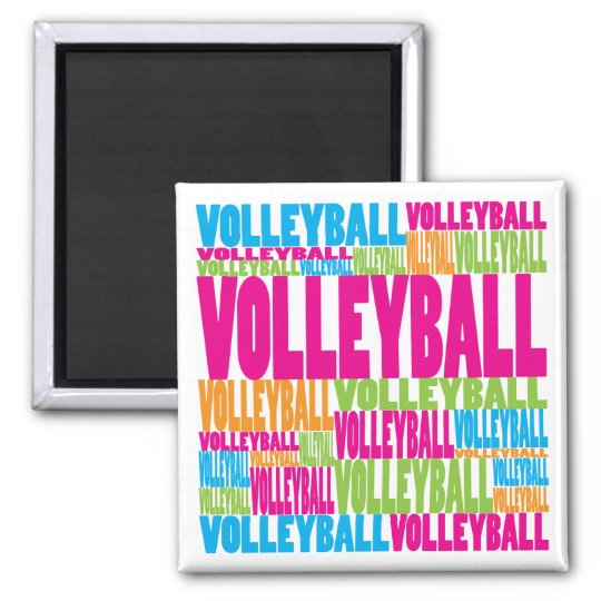 Colorful Volleyball Magnet