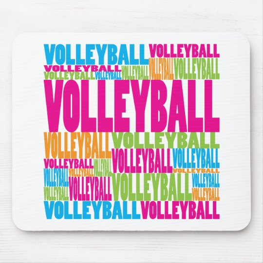 Colorful Volleyball Mouse Pad