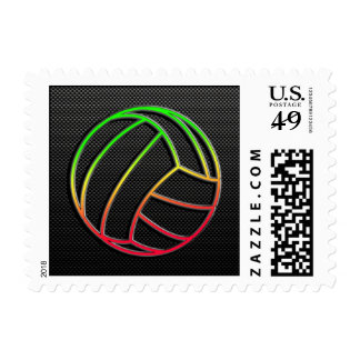Colorful Volleyball Postage Stamp